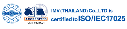 IMV (THAILAND) Co., LTD is certified to ISO / IEC17025