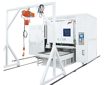 EM2555 Chamber Combined Vibration Test System (Large horizontal / vertical excitation changeover type)